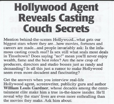 Hollywood Agent reveals casting couch secrets