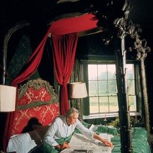 John Huston in his bedroom in St Clarens Manor