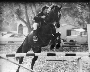 William Louis Gardner on horse